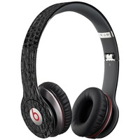 Textured Black Crocodile Decal Skin for Beats Solo HD Headphones by Dr. Dre
