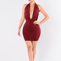 Kalani Dress - Burgundy
