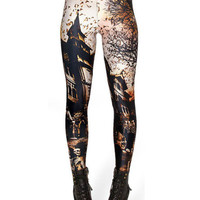 Haunted House Print Leggings