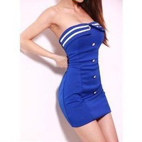 tourtown — Cultivate one's morality show thin package hip strapless dress