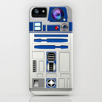 Funny Cute Star Wars R2D2 Droid Robot with Blue Lens Eye apple iPhone 3gs, 3g, 4, 4s and iphone 5 case