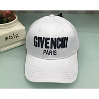 Givenchy new summer outdoor baseball cap street street fashion hip hop hat F0481-1 white