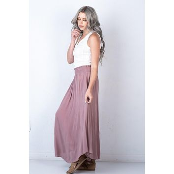 Timeless Maxi Skirt in MAUVE