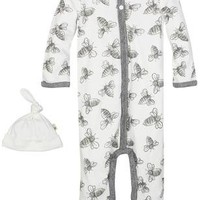 Burt's Bees Baby Bee Coverall & Hat Set (Baby) - Free Shipping