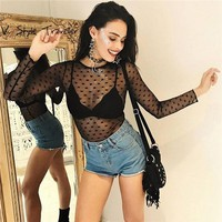 Black Sheer Sexy Voile Bodysuit Women Shorts Jumpsuit Music Festival Cheap Clothes China Female Mesh Bodycon Skinny Playsuit New