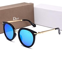 Dior Popular Ladies Leisure Summer Sun Shades Eyeglasses Glasses Sunglasses Blue I-HWYMSH-YJ