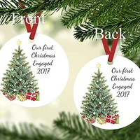 Christmas Ornament - Our First Christmas Engaged 2017