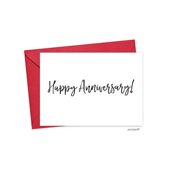 Happy Anniversary Folded philosophie's Greeting Card