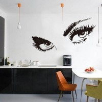 Audrey Hepburn's Eyes Silhouette Wall Sticker Decals Home Decor Removable Black:Amazon:Home & Kitchen