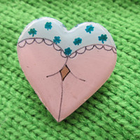 St. Patrick's Day Heart Booty Brooch