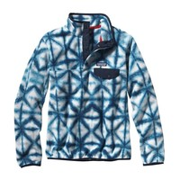 Patagonia Women's Synchilla® Recycled Fleece Lightweight Snap-T® Pullover   Diamond Dancer: Navy Blue