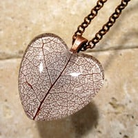 Skeleton Leaf of Salal Necklace, Leaf Jewelry, Plant Jewellery, Woodland, nature, rustic, forest