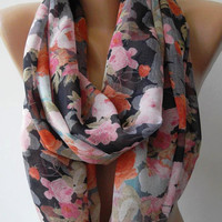ON SALE   Infinity Scarf Loop Scarf Circle Scarf - Elegant - It made with good quality chiffon fabric...Super Loop