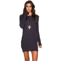 VOLCOM CHAINED DOWN LONG SLEEVE DRESS