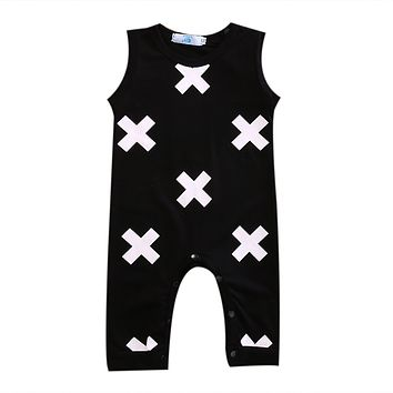 Newborn Baby Boys Kid XO Sleevepess Romper Jumpsuit Summer Outfits Clothes Playsuit