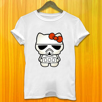 Cute Hello kitty Ready to Join in Star Wars Women and Men Tshirt All Color Available