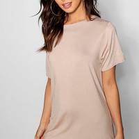 Petite Curved Hem T-shirt Dress | Boohoo