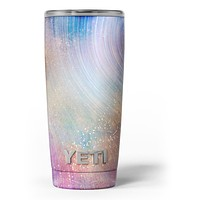 The Swirling Tie-Dye Scratched Surface - Skin Decal Vinyl Wrap Kit compatible with the Yeti Rambler Cooler Tumbler Cups