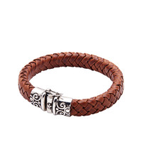 Brown Leather With Vintage Silver Lock