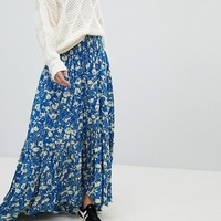 Free People Way Of The Wind Printed Maxi Skirt at asos.com
