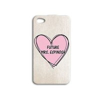 Cute Hot Pink Heart Future Mrs Matt Espinosa Phone Case iPhone Cover Cool