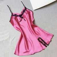 Women Sexy Underwear Fashion lace Silk BabyDoll Lingerie  Plus Size Sling Sleepwear Backless Women New Sexy Clothes Bodysuits