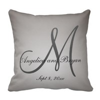 Monogrammed Wedding Pillow