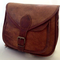 Rustic Leather Purse Leather Women Handbag Women Messenger bag Crossbody Travel bag Book bag
