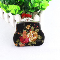 Brand new Coin Purses Hot Women Lady Retro Vintage Flower Small Wallet Hasp Clutch Bag 1pcs