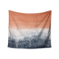 """Peach Color Block"" Trendy Boho Wall Tapestry"