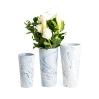 Terre Melee Blue Tapered Tall Vases