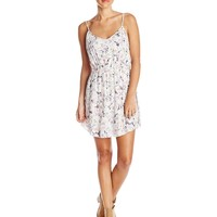 O'Neill Juniors Elodie Floral Tank Dress with Cross Back