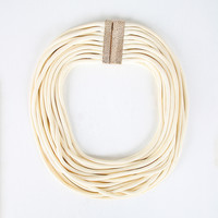 Multi Cord Bib Necklace