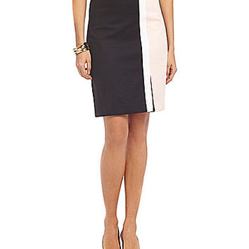 Jones New York Collection Lucy Colorblock Skirt - Black