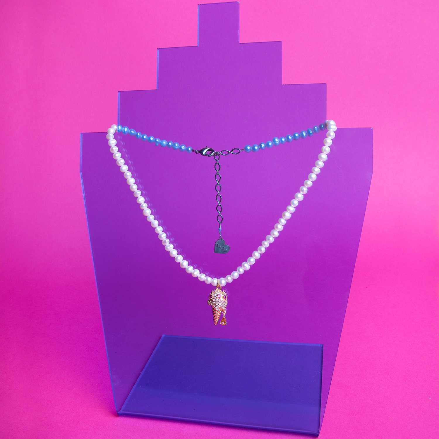 Image of Pearl Ice Cream Drip Necklace