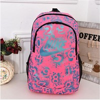 """shosouvenir""""""""Nike"""" Sport Hiking Backpack College School Travel Bag Day pack number White"""