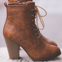 Out West Lace Up Heel Booties