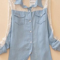A 072702 Complex Gulei Si hollow stitching long-sleeved803 from cassie2013