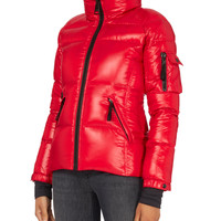 Candy Red Freestyle Puffer Jacket