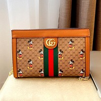 GUCCI x DISNEY Joint Multifunctional Shoulder Bag Chain Bag Crossbody Bag