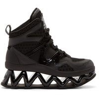Marc By Marc Jacobs Black Cut-Out Platform Ninja Sneakers