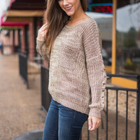 Roasting Marshmallow Sweater, Taupe