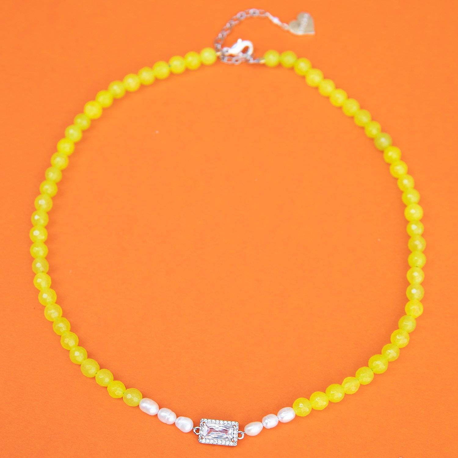 Image of Royal Pearl Jade Necklace