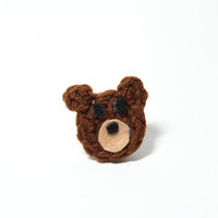 Bear ring, animal jewelry, kawaii ring.