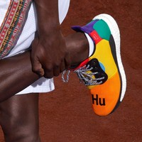 Adidas Pw Hu Holi Solar Boost Woven Mesh Breathable Running Shoes-3
