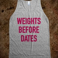 WEIGHTS BEFORE DATES TANK TOP PINK (IDA911654)