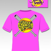 Sassy Frass Funny Softball No Crying Sweet Bright T Shirt