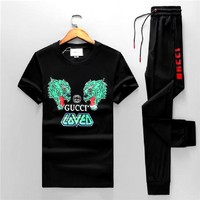 Boys & Men Gucci Shirt Top Pullover Pants Trousers Set Two-Piece