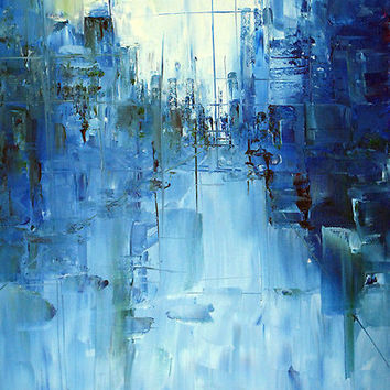 """""""Cold #3 Abstract cityscape"""" by Samuel Durkin 