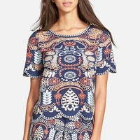 Women's J.O.A. Embroidered Woven Top,